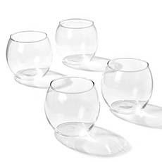 Candle Holders - Glass Votive Candle Holder Sphere Clear (8x7cmH)