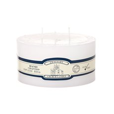 Candle 3 Wick Pillar 80Hr White (15x7.5cmH)