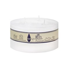 Pillar Candle 3 Wick 160Hr White (15x14.5cmH)