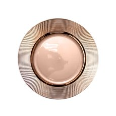 Candle Plates & Mirrors - Charger Plate Ripple (33cmD) Chrome Rose Gold