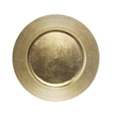 Candle Plates & Mirrors - Charger Plate Ripple 33cmD Gold