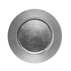 Candle Plates & Mirrors - Charger Plate Ripple 33cmD Silver