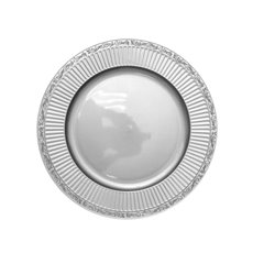 Candle Plates & Mirrors - Charger Plate Round (33cmD) Metallic Silver