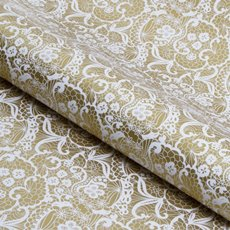 Counter Rolls - Counter Roll Lace White on Gold (50cmx50m)