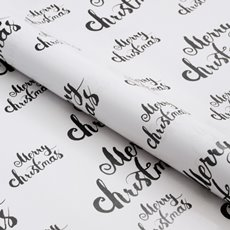 Counter Rolls - Counter Roll Merry Christmas Black on White (50cmx50m)