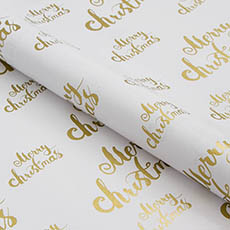 Counter Rolls - Counter Roll Gloss Merry Christmas Gold on White (50cmx50m)