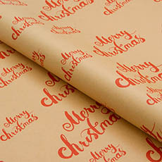 Counter Rolls - Counter Roll Gloss Merry Christmas Red (50cmx50m)