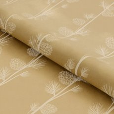 Counter Rolls - Counter Roll Pinecone White on Brown Kraft (50cmx50m)