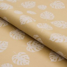 Counter Roll Philo Leaf White on Brown Kraft 70gsm(50cmx50m)