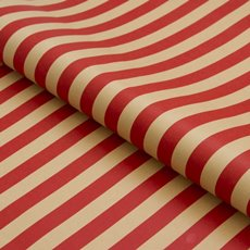 Counter Rolls - Counter Roll Stripe Red on Brown Kraft (50cmx50m)