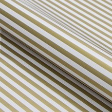 Counter Rolls - Counter Roll Thin Stripe Gloss Gold White (50cmx50m)