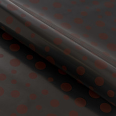 Counter Rolls - Counter Roll Scatter Dots Pewter on Black (50cmx50m)