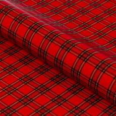 Counter Rolls - Counter Roll Gloss Tartan Red (50cmx50m)