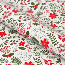 Counter Rolls - Counter Roll Gloss Xmas Floral Green Red (50cmx50m)