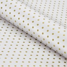 Counter Rolls - Counter Roll Polka Dots Gloss Gold on White (50cmx50m)