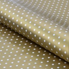 Counter Rolls - Counter Roll Polka Dots Gloss White on Gold (50cmx50m)