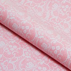 Counter Roll Lace White on Baby Pink 80gsm (50cmx60m)