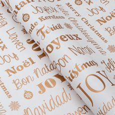 Counter Roll Seasonal Greetings Copper 80gsm (50cmx60m)