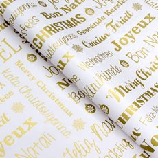 Counter Roll Seasonal Greetings Gold 80gsm (50cmx60m)