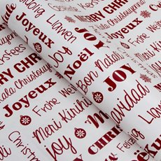 Counter Roll Seasonal Greetings Red 80gsm (50cmx60m)