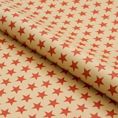 Counter Roll Star Red on Brown Kraft 70gsm (50cmx60m)