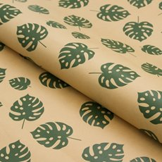 Counter Roll Philo Leaf Green on Brown Kraft 70gsm(50cmx60m)