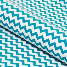 Counter Roll 80gsm Chevron 50cmx60m Gloss Aqua on White