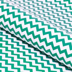 Counter Roll 80gsm Chevron 50cmx60m Gloss Green on White