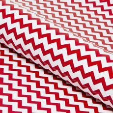 Counter Roll 80gsm Chevron 50cmx60m Gloss Red on White