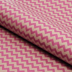 Counter Roll Hot Pink Chevron on Brown Kraft(50cmx60m)