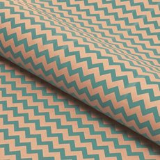 Counter Roll Tiffany Blue Chevron on Brown Kraft(50cmx60m)