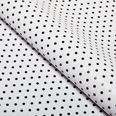 Counter Roll 80gsm Polka Dots 50cmx60m Gloss Black on White
