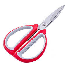 Scissors Florist and Craft Red & Grey (19cm - 7.5)