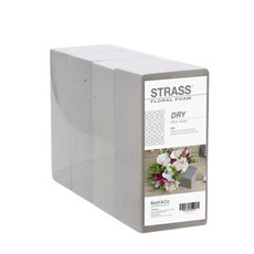 Dry Floral Foam - Dry Strass Floral Foam Brick Shrink (23x11x8cmH) Pack 4