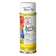 Translucent Flower Dye - Design Master Spray Just For Flowers Lemon (312g)
