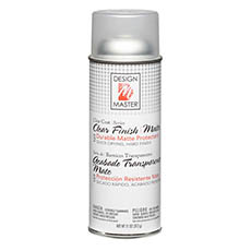 Clear Spray Paint - Design Master Spray Paint Clear Finish Matte (312g)