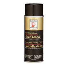 Metallic Spray Paint - Design Master Spray Premium Metals Gold Medal (312g)