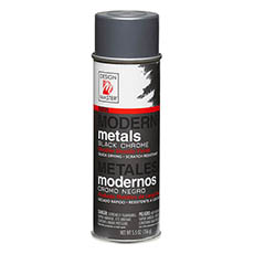 Metallics - Design Master Spray Modern Metals Black Chrome (156g)