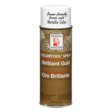 Metallics - Design Master Spray Paint Colortools Brilliant Gold (340g)