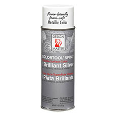 Metallic Spray Paint - Design Master Spray Paint Brillant Silver (312g)