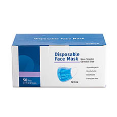 Florist Warehouse Supplies - Disposable Dust Mask M2 Blue Pack 50