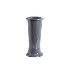 Floral Display Vase - Ideal Flower Display Vase with Base Dark Grey 4L (14x35cmH)