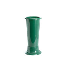 Floral Display Vase - Ideal Flower Display Vase with Base Green 4L (14x35cmH)