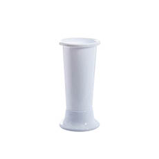 Floral Display Vase - Ideal Flower Display Vase with Base White 4L (14x35cmH)