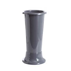 Floral Display Vase - Ideal Flower Display Vase with Base Dark Grey 7L (18x45cmH)