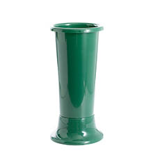 Floral Display Vase - Ideal Flower Display Vase with Base Green 7L (18x45cmH)