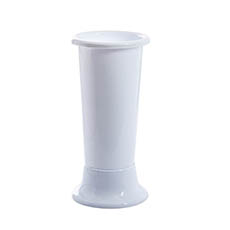 Floral Display Vase - Ideal Flower Display Vase with Base White 7L (18x45cmH)