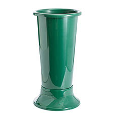 Floral Display Vase - Ideal Flower Display Vase with Base Green 15L (22x50cmH)