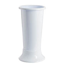 Plastic Flower Vases - Ideal Flower Display Vase with Base White 15L (22x50cmH)