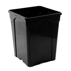 Flower Bucket Plastic Square 10L 22x27cmH Black